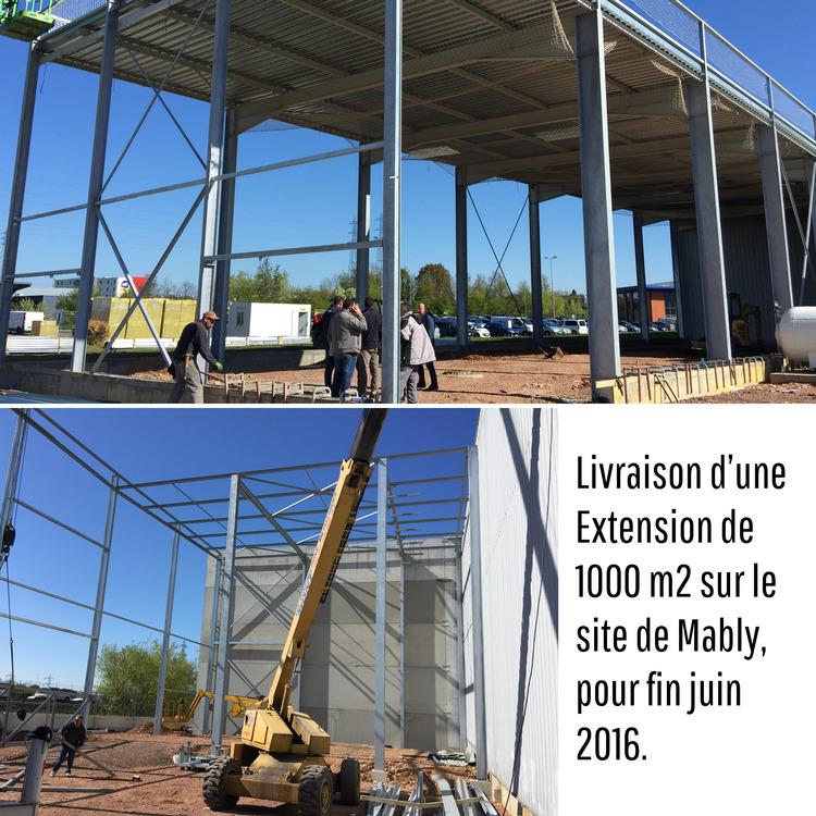 Site de Mably : extension de 1000 m2
