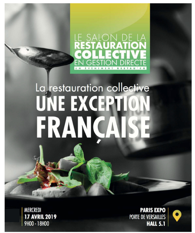 RDV au Salon RestauCo le mercredi 17 avril à Paris - Stand C18-C20